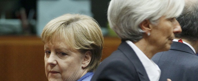 Chancellor Angela Merkel and FMIs Christine Lagarde