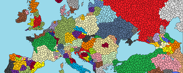 Fractured Europe Map