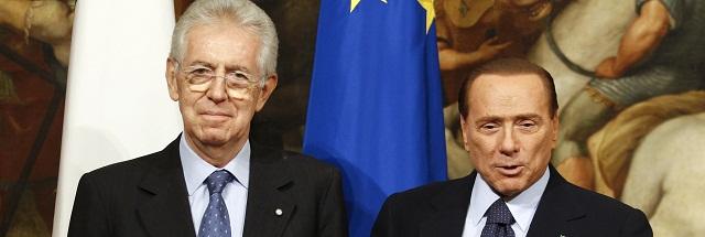Mario Monti Silvio Berlusconi
