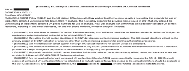 NSA and the UK