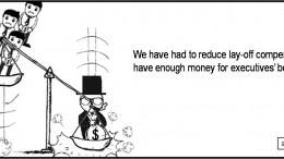 Bonuses and Job Losses: Communicating Vessels?