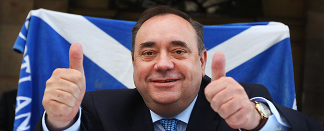 Alex Salmond Retains His Post As First Minister And Creates Scotland's First Majority Government