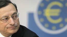 Mario Draghi, President of the European Central Bank (ECB), addresses the media during his monthly news conference at the ECB headquarters in Frankfurt