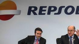 Repsol's Josu Jon Imaz and Antoni Brufau