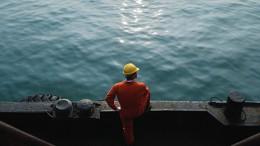 Worker in cargo