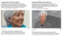 Lagarde on Grexit