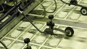 A dollar printing machine