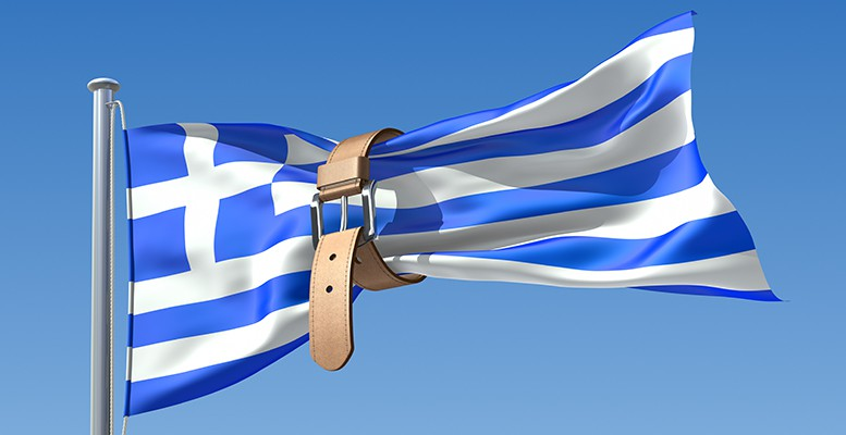 A Greek flag