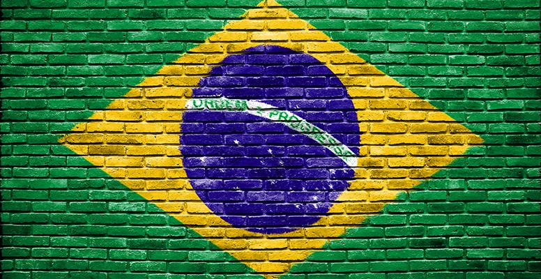 brazil flag brick wall.TC