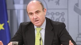 Luis de Guindos, Minister of Economy and Competitiveness of Spain.[