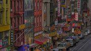 Facade of Chinatown in Manhattan