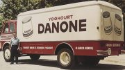 Danone was founded by Isaac Carasso in Barcelona in 1919.In the 1950s, they used this amazing truck.