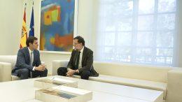 30/10/2015 Madrid, España  El Presidente del Gobierno, Mariano Rajoy,  recibe en La Moncloa al presidente de Ciudadanos, Albert Rivera Fotografía: Diego Crespo / Moncloa Presidencia del Gobierno