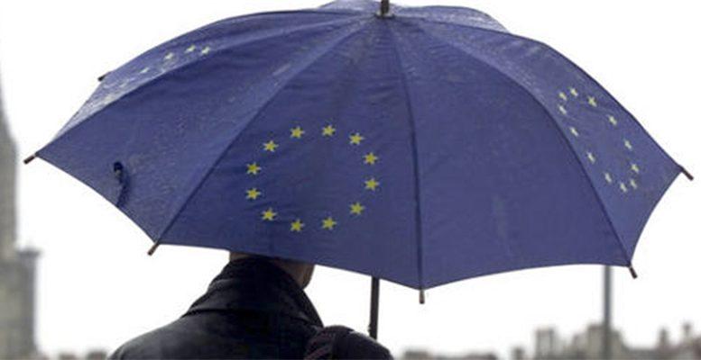 EU crisis umbrella rain