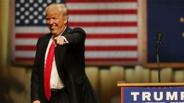 New elected US president Donald Trump