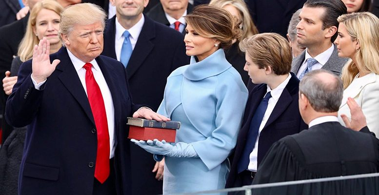 Donald Trump swearing in ceremony