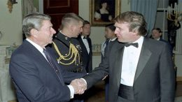 Reagan meets Trump in 1987