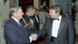 Reagan meets Trump in 1987