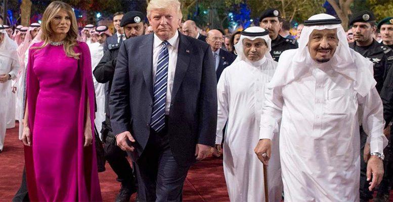Donald Trump and his wife visiting Saudi Arabia