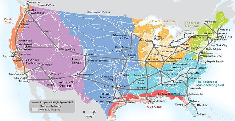 New Map Of America.The United Republics A Peace Plan For America