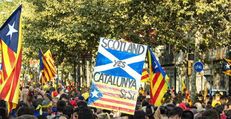 Scotland and Catalonia independence