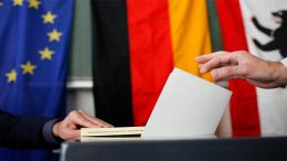 Germans vote in the election in 2009