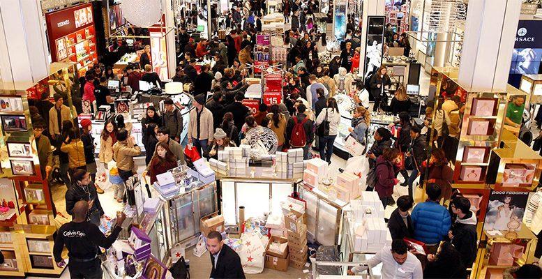 US holiday shopping season