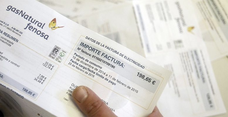 Spain electricity bill rising