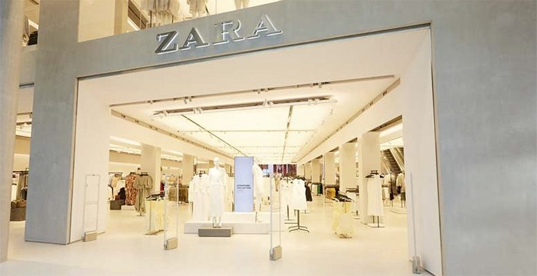 Inditex's first store in the world with an integrated online section in Stratford (London).