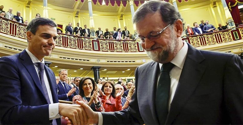 Mariano Rajoy has left the Moncloa to be replaced by the socialist leader Pedro Sanchez