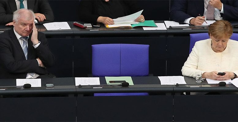 Germany first politics damages the Merkel's government coalition
