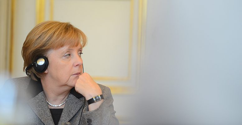 The euro suffers for Angela Merkel , but not the soverign debt