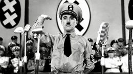 One of Chaplin's most celebrated impersonations