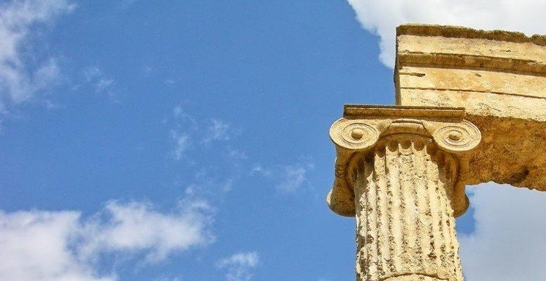 olympia greece column antique corinthian marquee