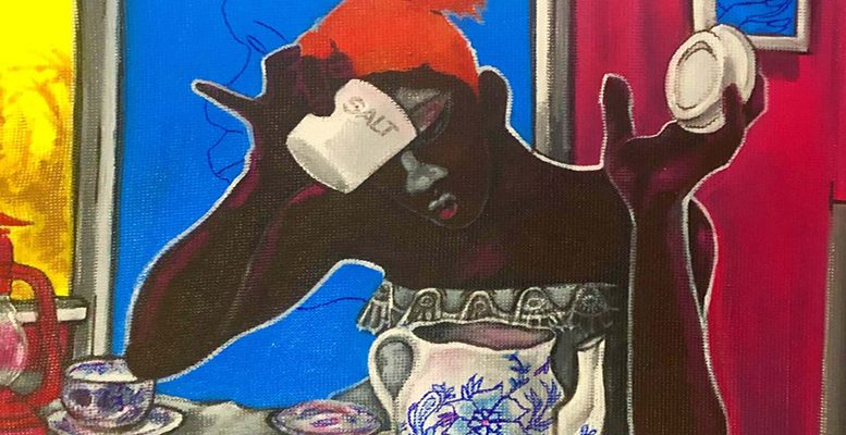 John Madu Salty Before 4pm series 2018. Acrylic on canvas 67x76 cm. Image courtesy of the artist and HAART 958x559