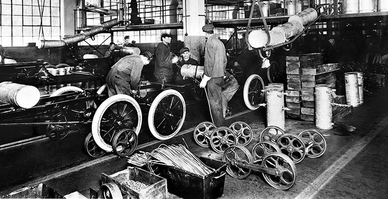 ford t assembly line