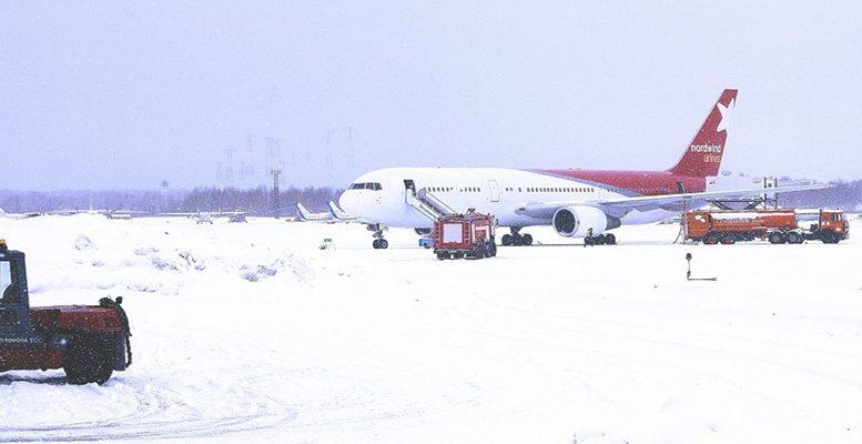barajas airport snow