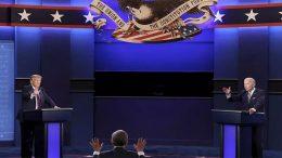 Donald Trump and Joe Biden, debate