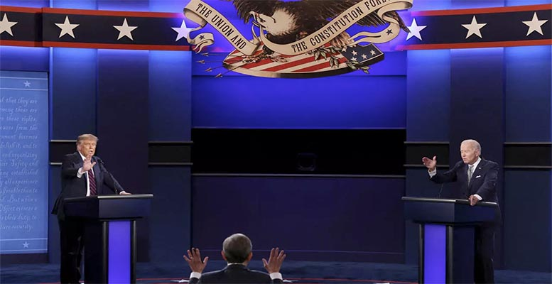 Donald Trump and Joe Biden, debate