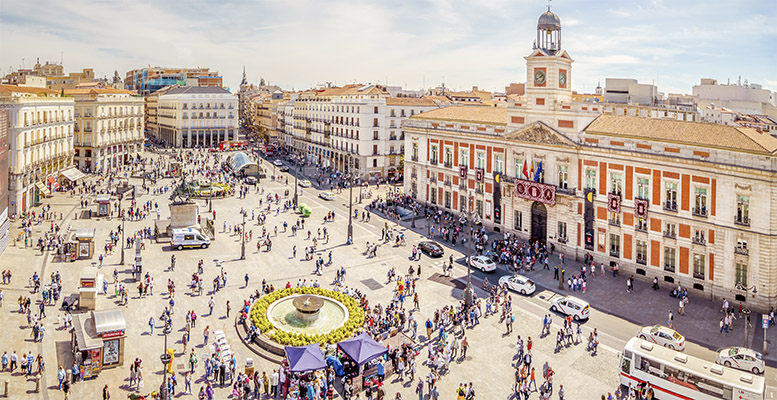 Puerta del Sol Square, Madrid, Spain