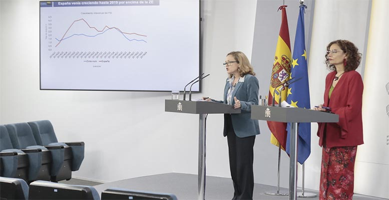 Spanish Ministry of Economy Nadia Calviño and Ministry of Finance María Jesús Montero