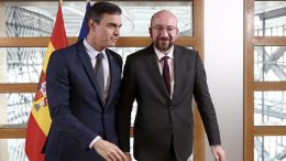 Pedro Sánchez and Charles Michel