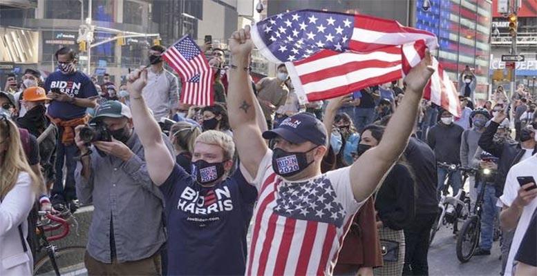 Biden wins celebrations