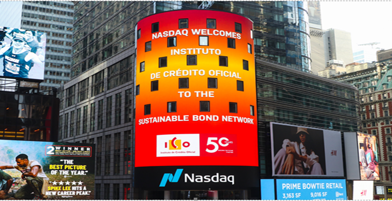 ICO en Times Square