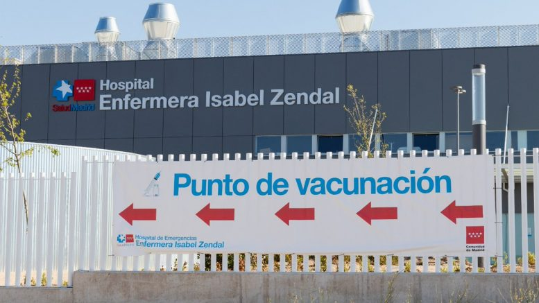 The hospital Isabel Zendal, one of the main vaccination centres in Madrid